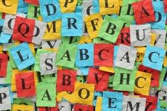 Tas de lettres (ABC) Photographie stock