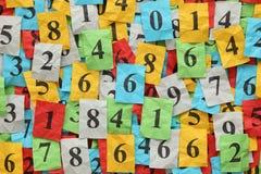 Tas de nombres Photos libres de droits