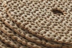 Tas de pain croustillant suédois frais Photographie stock