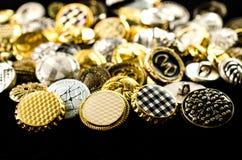 tas de rétros boutons Photos stock
