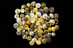 tas de rétros boutons Image stock