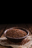Tas de riz rouge (tir en gros plan) Photos stock