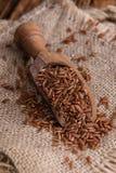 Tas de riz rouge (tir en gros plan) Photos libres de droits