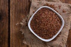 Tas de riz rouge (tir en gros plan) Photographie stock libre de droits
