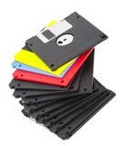 Tas de vieux disque souple Image libre de droits