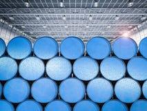 Tas des barils bleus Image stock