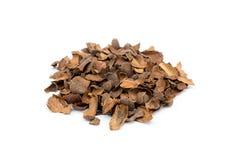 Tas des coquilles vides lâches de cacao photo stock