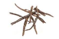 Tas des feuilles de thé vertes sèches Photos libres de droits