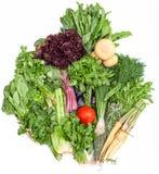 Tas des groupes de la verdure fraîche de coupe Images stock