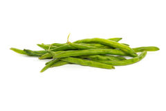 Tas des haricots verts crus Images stock