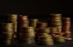 Tas des pièces de monnaie Photographie stock libre de droits
