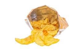 Tas des pommes chips Photographie stock