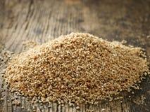 Tas des poussières abrasives de blé Photo libre de droits