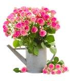 Tas des roses roses fraîches photo stock