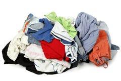 Tas des vêtements Images stock