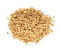 Tas du casse-croûte soufflé de blé d'isolement photographie stock libre de droits
