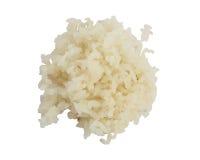 Tas du riz blanc cuit d'isolement sur le fond blanc Photos libres de droits