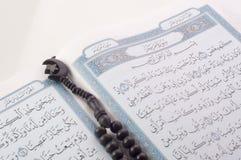 Tasbih (beads) on Holy Quran Royalty Free Stock Photos