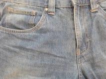 Tasca anteriore delle blue jeans immagine stock