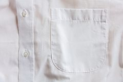 Tasca della camicia Fotografia Stock