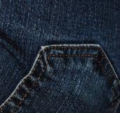 Tasche auf bluejeans Stockfoto