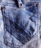 Tasche auf den Jeans lizenzfreies stockbild