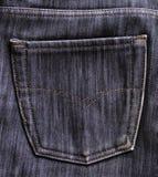 Tasche auf den Jeans lizenzfreie stockfotografie
