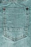 Tasche Blue Jeans Lizenzfreies Stockbild