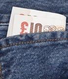 Tasche BRITISCHE Pounds stockfotos