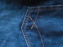 Tasche Denimhosen Beschaffenheit lizenzfreies stockfoto