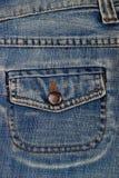 Tasche des blauen Baumwollstoffs Stockfotografie
