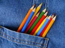 Tasche mit Bleistiften Lizenzfreies Stockfoto
