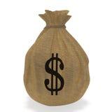 Tasche mit Geld Lizenzfreie Stockbilder