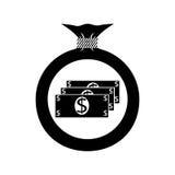 Tasche mit Geld Dollar Stockbilder