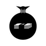 Tasche mit Geld Dollar Stockbild