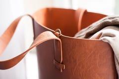 Tasche mit Sachen Stockfotos