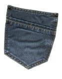 Tasche schwarze Jeans Lizenzfreies Stockbild