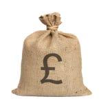Tasche vom Pound. stockbild