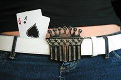 Taschen-Asse Stockfotografie