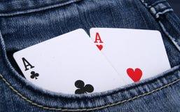 Taschen-Asse Stockbild