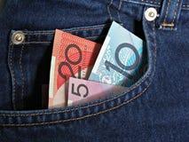 Taschen-Geld Lizenzfreie Stockbilder