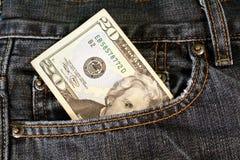 Taschen-Geld Lizenzfreies Stockfoto