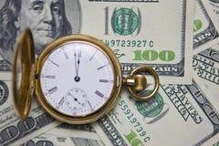 Taschen-Uhr -Time ist Geld Stockfoto