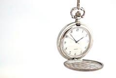 Taschen-Uhr, welche die Bedeutung der Zeit anzeigt Stockfoto