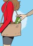 Taschendiebmädchen Lizenzfreie Stockfotos