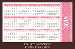 Taschenkalender 2015, Anfang am Sonntag Stockbild