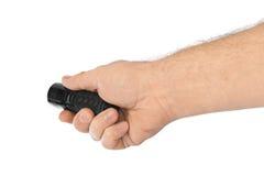 Taschenlampe in der Hand Lizenzfreies Stockbild