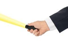 Taschenlampe in der Hand Lizenzfreie Stockbilder