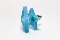Taschenlampe der Weinlesegirlande in Form eines Sternes mit einer Birne Lizenzfreies Stockbild