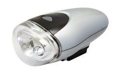 Taschenlampe für das Fahrrad getrennt auf Weiß Lizenzfreies Stockfoto